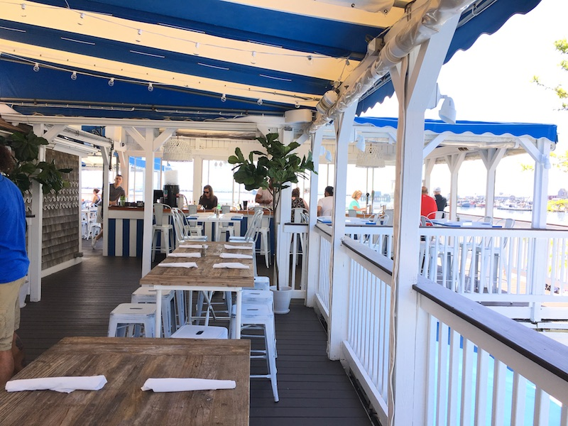 2 decks 1 amazing view Provincetown beachfront dining at historic Pepe's Wharf