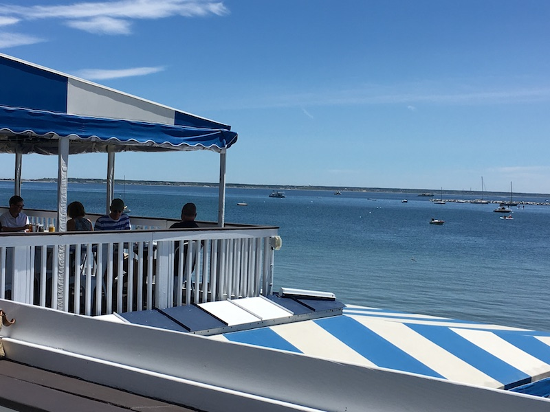 Waterfront, beach front dining in Provincetown. 2 decks, 1 amazing view.
