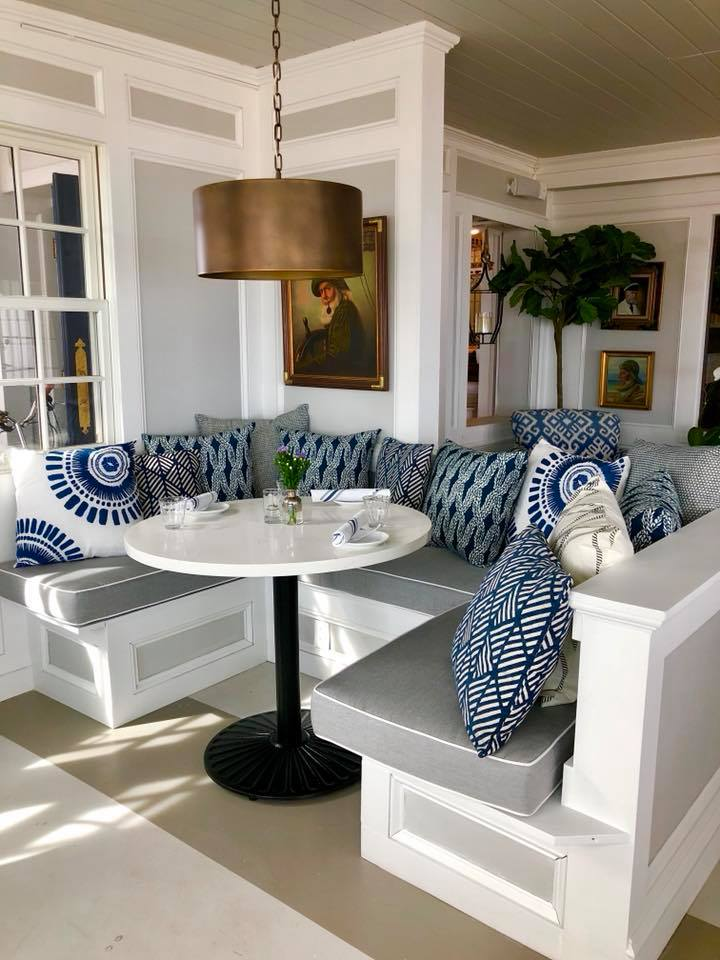 Cozy seating at Pepe's Wharf Provincetown