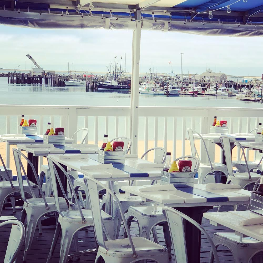 Lunch on Provincetown Harbor, Cape Cod Bay, Provincetown.